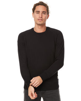 BLACK MENS CLOTHING ACADEMY BRAND JUMPERS - 17W516BLK