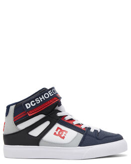 NAVY/WHITE KIDS BOYS DC SHOES SNEAKERS - ADBS300324-NWH