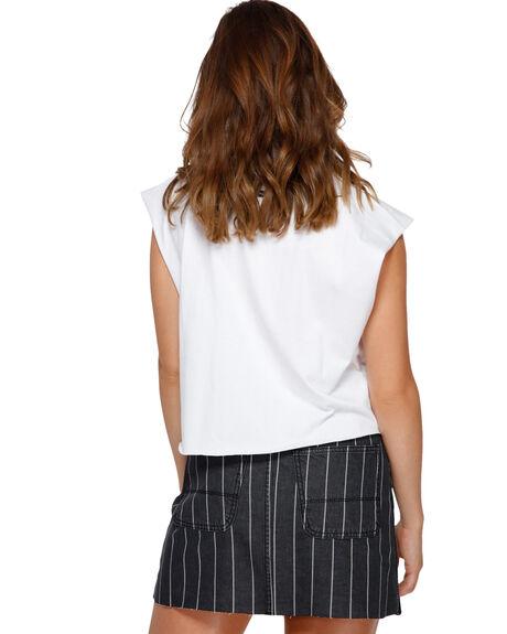 WHITE WOMENS CLOTHING RVCA SINGLETS - RV-R291661-WHT