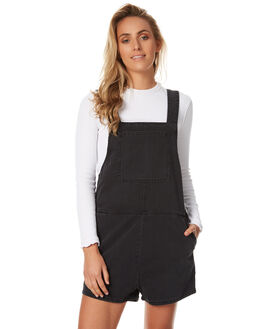 AGE OLD BLACK WOMENS CLOTHING ASSEMBLY PLAYSUITS + OVERALLS - AW-S1732ABLK