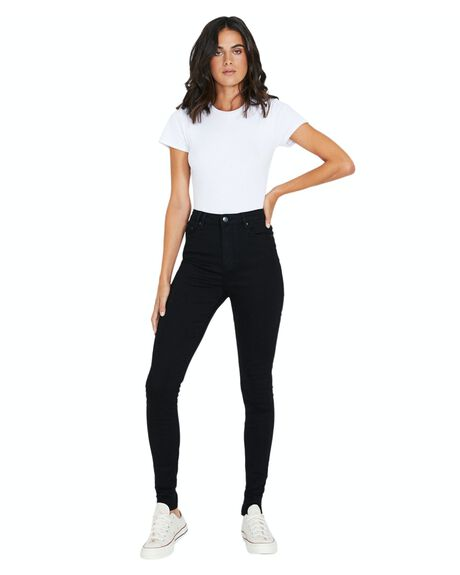 BLACK WOMENS CLOTHING INSIGHT JEANS - 17401000037