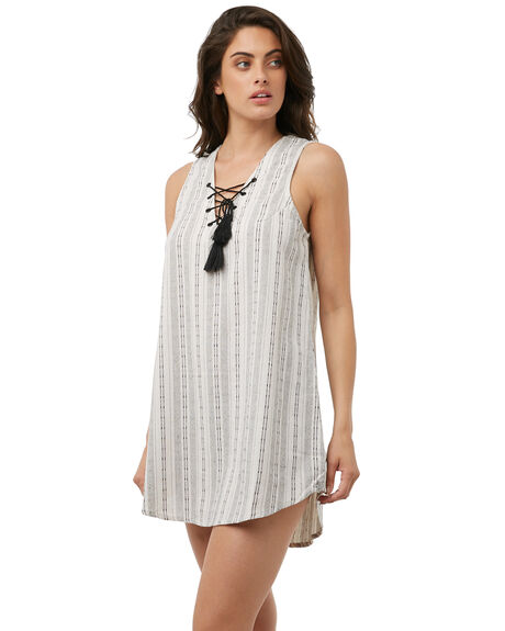WHITE OUTLET WOMENS RHYTHM DRESSES - JAN18W-DR05-WHTWHT