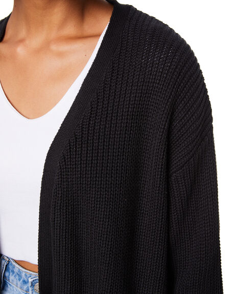 BLACK WOMENS CLOTHING ALL ABOUT EVE KNITS + CARDIGANS - 6473020BLK