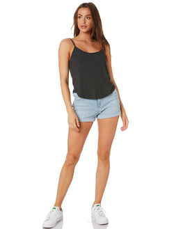 BLACK WOMENS CLOTHING ALL ABOUT EVE SINGLETS - 6443061BLK