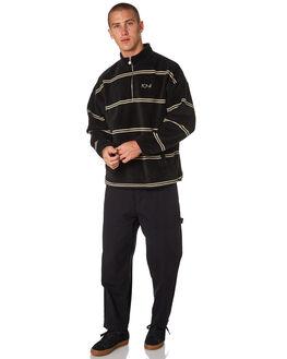 BLACK MENS CLOTHING POLAR SKATE CO. JUMPERS - PSC-STRIPEPBLK