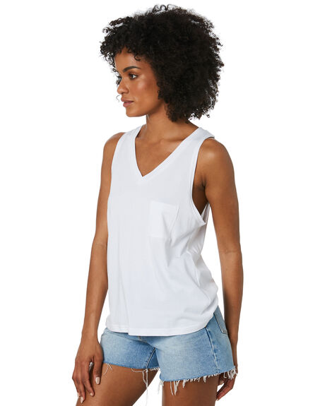 WHITE WOMENS CLOTHING SWELL SINGLETS - S8212002WHITE