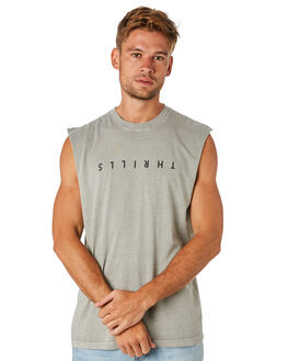 STONE MENS CLOTHING THRILLS SINGLETS - TS8-115GSTNE
