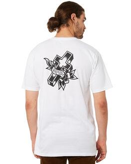 WHITE MENS CLOTHING BRIXTON TEES - 06905WHITE