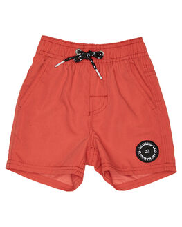 WASHED RED KIDS TODDLER BOYS BILLABONG BOARDSHORTS - 7582402WRED