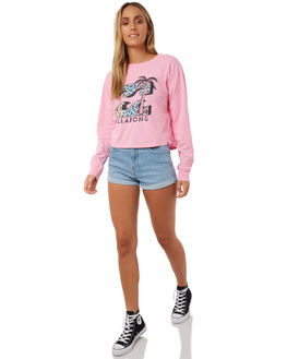 THINK PINK WOMENS CLOTHING BILLABONG TEES - 6585075PNK