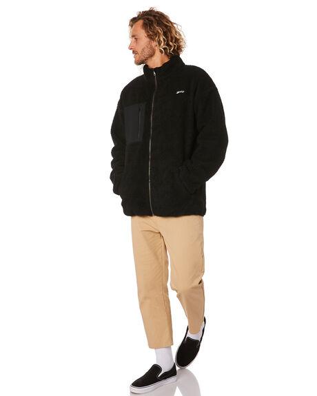 BLACK MENS CLOTHING RUSTY JUMPERS - FTM0946BLK