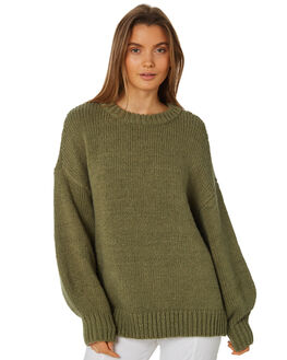 KHAKI WOMENS CLOTHING ZULU AND ZEPHYR KNITS + CARDIGANS - ZZ2449KKHA