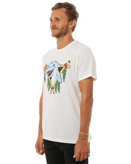 ANTIQUE WHITE MENS CLOTHING RVCA TEES - R383049AWHT