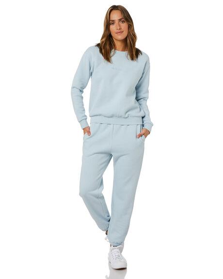 POWDER BLUE WOMENS CLOTHING SWELL HOODIES + SWEATS - S8214450PWDBL