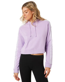 PURPLE GLOW WOMENS CLOTHING ADIDAS JUMPERS - DX2158PUR