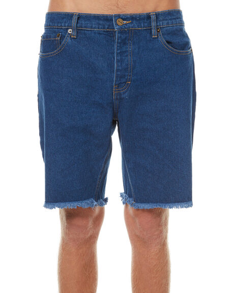 INDIGO MENS CLOTHING AFENDS SHORTS - 09-05-021IND