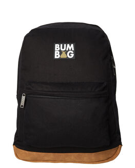 BLACK MENS ACCESSORIES THE BUMBAG CO BAGS + BACKPACKS - BP002BLK