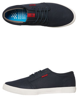 NAVY RED MENS FOOTWEAR KUSTOM SNEAKERS - 4937102VNVRD