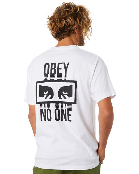 WHITE MENS CLOTHING OBEY TEES - 166911559WHT