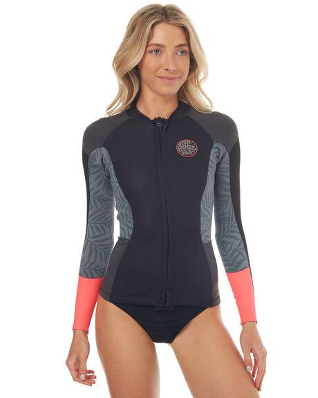Rip Curl Womens Dawnpatrol Ls Wetsuit Jacket - Neon Pink  255ac03298