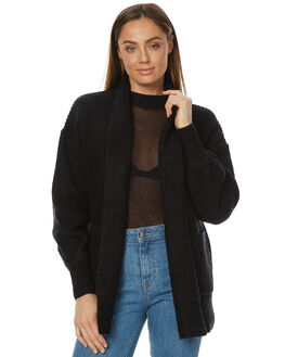 BLACK WOMENS CLOTHING RUSTY KNITS + CARDIGANS - CKL0322BLK
