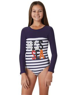 NAVY STRIPE KIDS GIRLS MUNSTER KIDS SWIMWEAR - MM181OP02NVYST