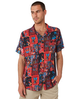 PINK BLUE OUTLET MENS MISFIT SHIRTS - MT091406PNKBL