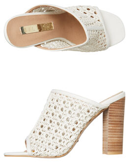 WHITE WOVEN WOMENS FOOTWEAR BILLINI HEELS - H1119WTWVN