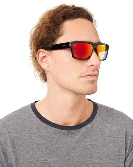 BLACK CLEAR RED MENS ACCESSORIES CARVE SUNGLASSES - 3021BKRE