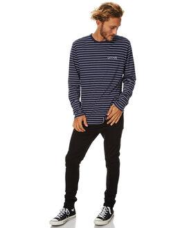 NAVY WHITE STRIPE MENS CLOTHING RPM TEES - 7WMT04ANWS