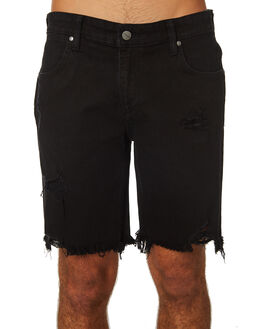 WHIPLASH BLACK MENS CLOTHING WRANGLER SHORTS - W-901486-KS4WHBLK