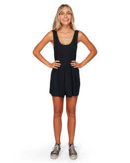 OFF BLACK WOMENS CLOTHING BILLABONG PLAYSUITS + OVERALLS - BB-6592536-OFB