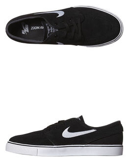 BLACK WHITE MENS FOOTWEAR NIKE SKATE SHOES - 333824-026