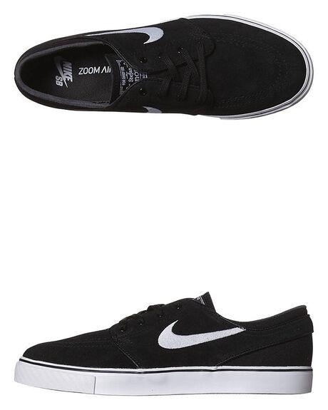 BLACK WHITE MENS FOOTWEAR NIKE SKATE SHOES - 333824-026
