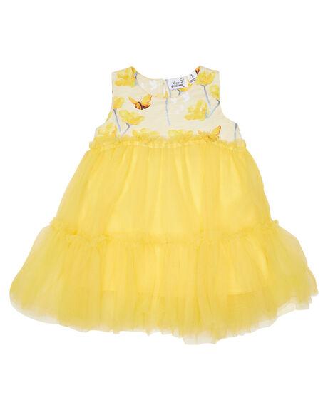 YELLOW KIDS GIRLS KISSED BY RADICOOL DRESSES + PLAYSUITS - KR1304YLW