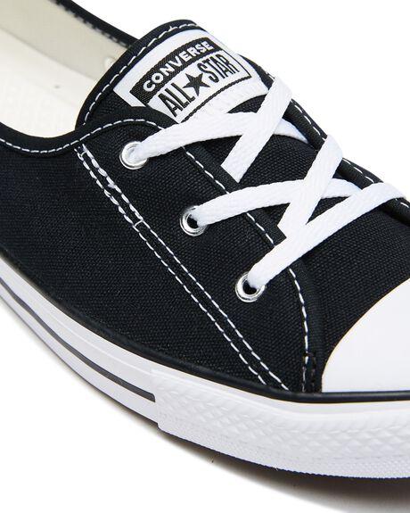 BLACK WOMENS FOOTWEAR CONVERSE SNEAKERS - 566775CBLK