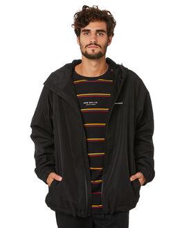 BLACK MENS CLOTHING RPM JACKETS - 20AM27A2BLACK