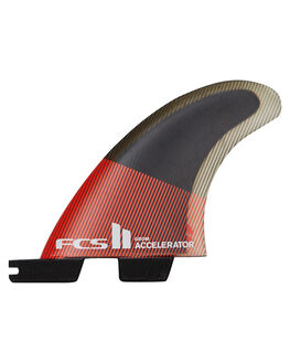 RED BLACK BOARDSPORTS SURF FCS FINS - FACC-PC04-GM-TS-RRDB