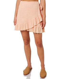 LIGHT PEACH WOMENS CLOTHING RIP CURL SKIRTS - GSKDS19724