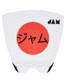 WHITE RED BOARDSPORTS SURF JAM TRACTION TAILPADS - TPTL1PWHRED