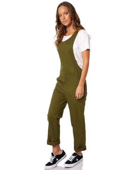 OLIVE CANVAS WOMENS CLOTHING HURLEY PLAYSUITS + OVERALLS - AJ3597395