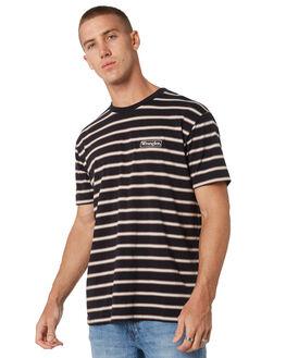 BLACK STRIPE MENS CLOTHING WRANGLER TEES - 901504K29