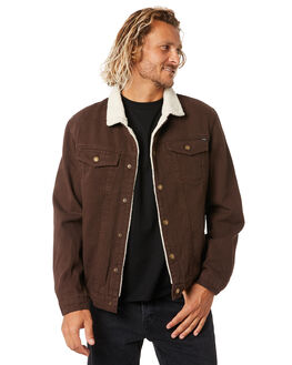 POSTAL BROWN MENS CLOTHING THRILLS JACKETS - TDP-226CPTBRW
