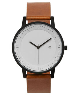 TAN BLACK WHITE MENS ACCESSORIES SIMPLE WATCH CO WATCHES - SW02-01BLKWH