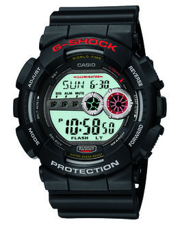 BLACK MENS ACCESSORIES G SHOCK WATCHES - GD100-1ABLK