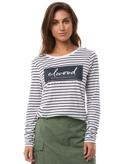 NAVY STRIPE WOMENS CLOTHING ELWOOD TEES - W82110JF6