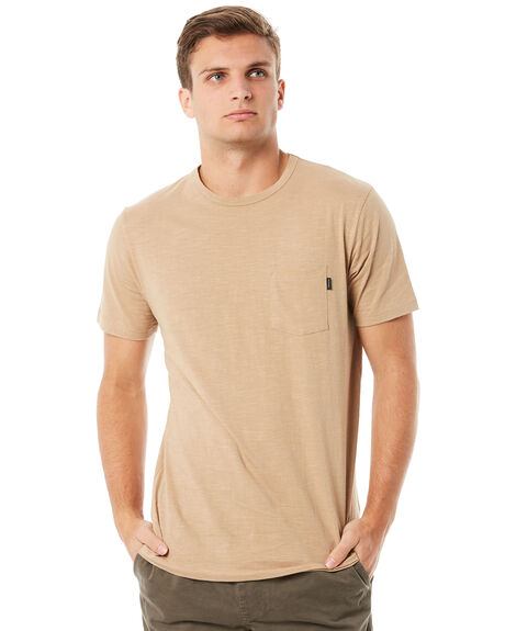 KHAKI MENS CLOTHING RIP CURL TEES - CTEMW20064