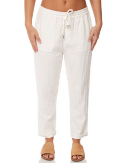 WHITE WOMENS CLOTHING RUSTY PANTS - PAL0994WHT