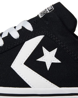 BLACK WHITE MENS FOOTWEAR CONVERSE SNEAKERS - 155064BLK