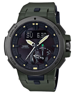OLIVE MENS ACCESSORIES CASIO WATCHES - PRW7000-3DOLV